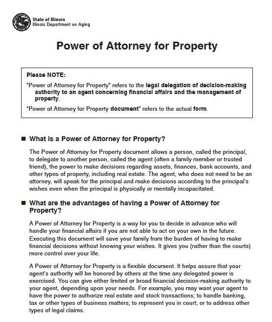 Free Illinois Durable Power of Attorney Short Form – PDF