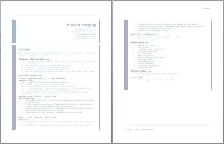 Assistant Project Manager Resume – Sample Resumes