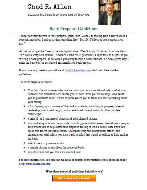 4 Ways to Make Sure Your Book Proposal Stands Out » Chad R. Allen
