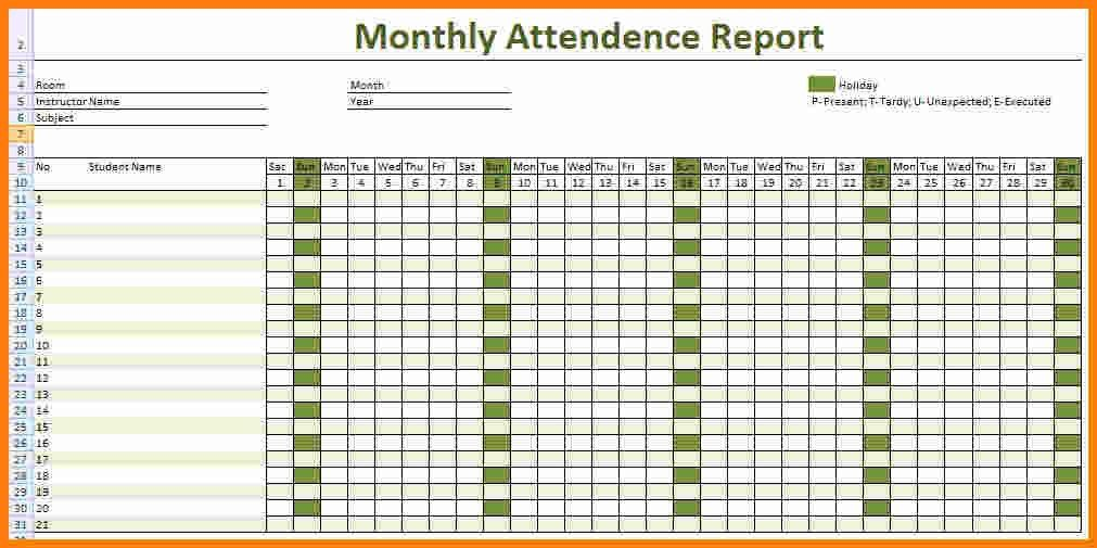 7+ printable attendance sheet for employees | ledger paper