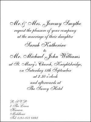 Best 25+ Formal wedding invitation wording ideas on Pinterest ...