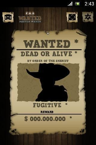 Wanted Poster Maker Editor APK download | Wanted Poster Maker ...