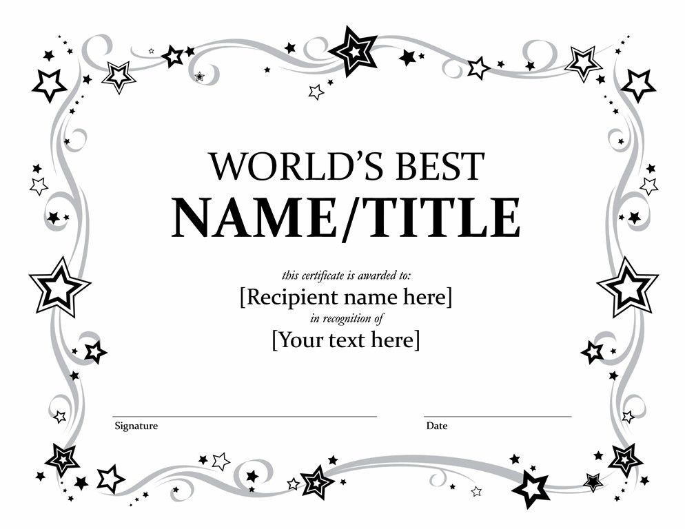 Ms Word Certificate Template | The Letter Sample