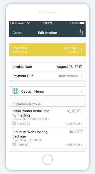 Free invoicing for small businesses—Invoice by Wave