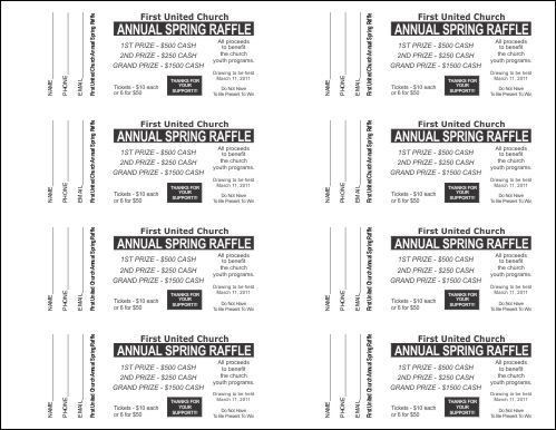 Raffle Ticket Templates - Small Raffle Ticket Templates - 2