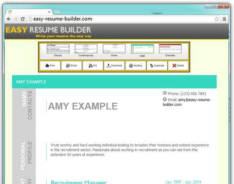 Easy-Resume-Builder The easiest way to write your resume