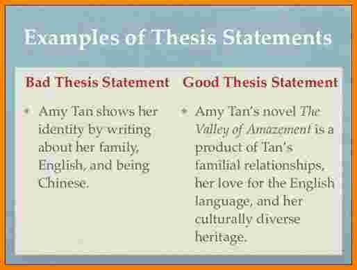 4+ great thesis statement examples | Case Statement 2017