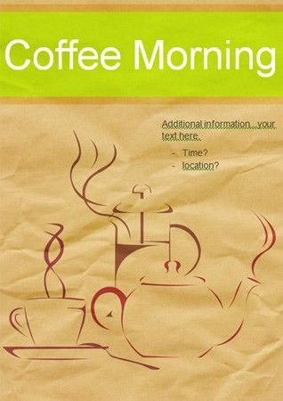 Editable Coffee Morning Poster | Free EYFS / KS1 Resources for ...
