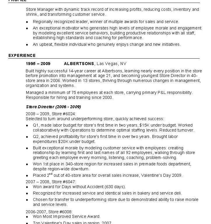 Bright Ideas Sample Retail Resume 4 Retail Resume Example Industry ...