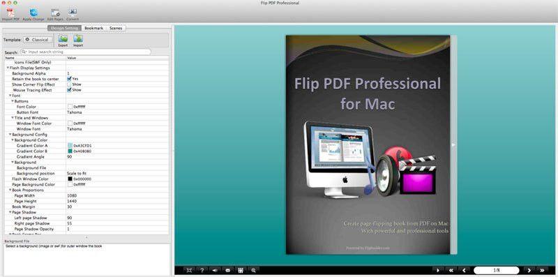 flip pdf pro mac manual template settings