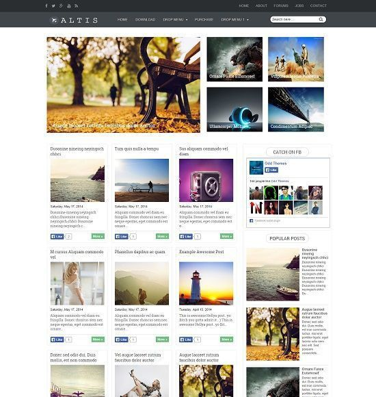 Altis Gallery Blogger Template » abTemplates.com