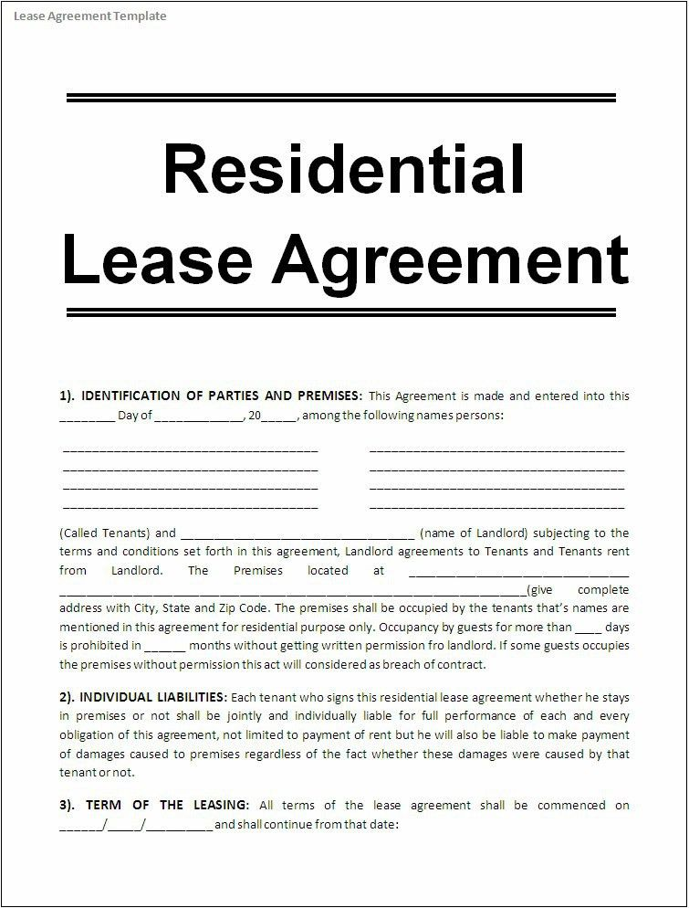 Editable Rental Agreement [Template.billybullock.us ]