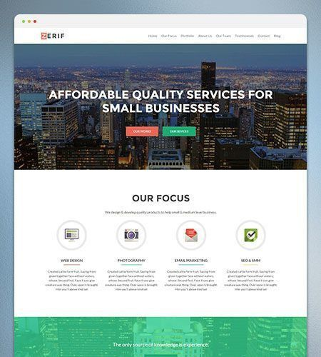 Zerif PRO: Premium One Page WordPress Theme