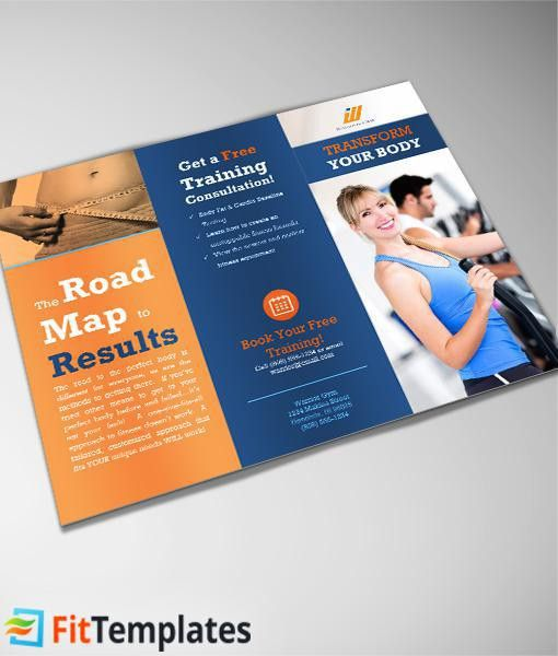 Gym Tri fold Brochure Template from FitTemplates.com