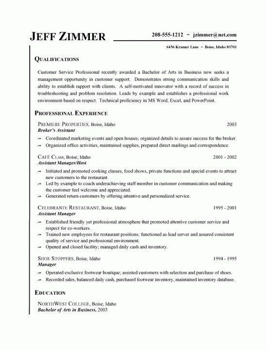 Customer Service Experience Resume [Template.billybullock.us ]