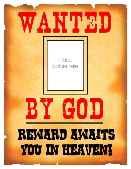 "Kindergarten's ""Most Wanted"" - VBS & Sunday School Bulletin Board"