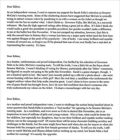 McCain Camp Submits Fake Letters to the Editor