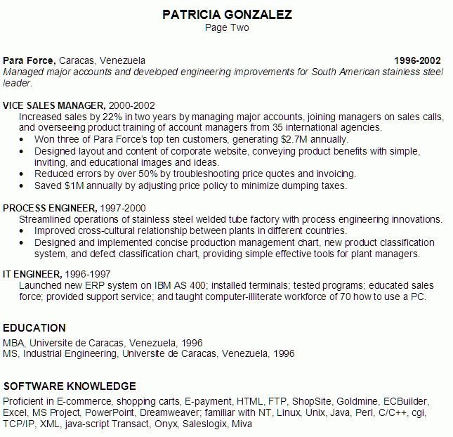 Resume for an E-commerce Project Manager - Susan Ireland Resumes