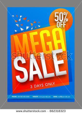 Fast Food Sale Flyer Design Vector Stock Vector 624303380 ...