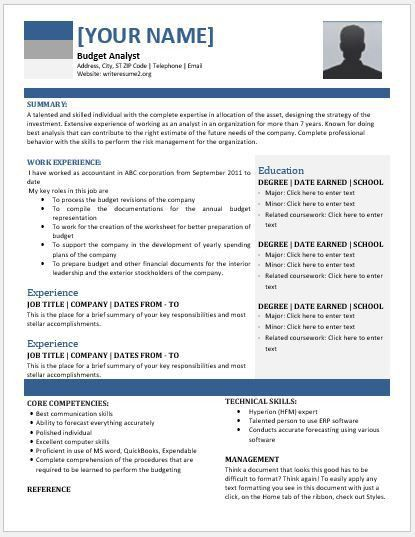 sample budget analyst resume analyst resume example example
