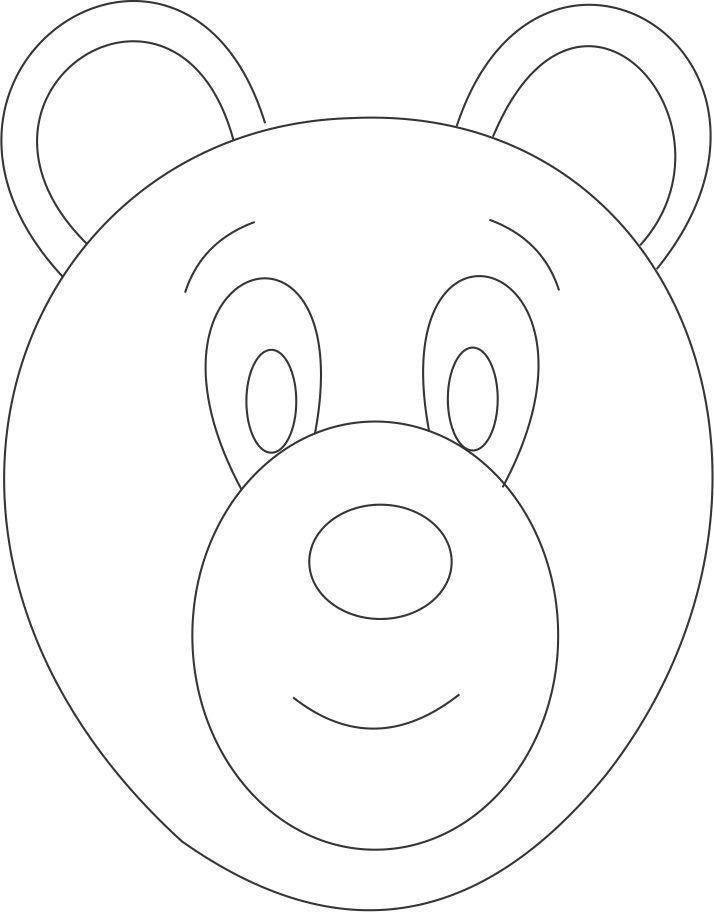 Teddy Bear Mask Template - Contegri.com