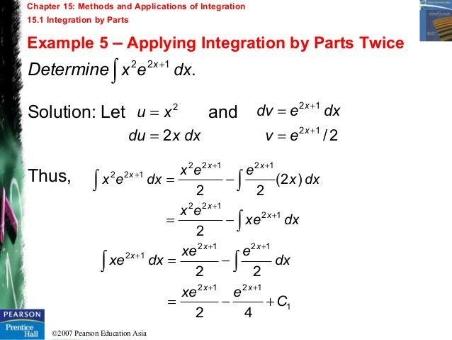 Chapter 15 - Methods and Applications of Integration
