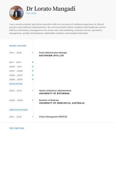 Administration Manager Resume samples - VisualCV resume samples ...