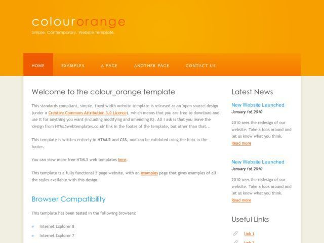Colour Orange » Free Web Template from OpenDesigns.org