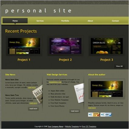 Personal portfolio free website templates for free download about ...