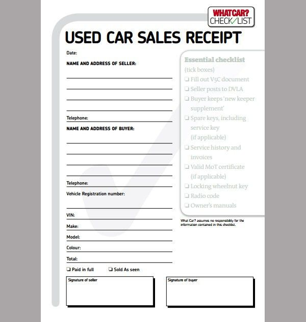 Download Car Sales Receipt Template Uk | rabitah.net