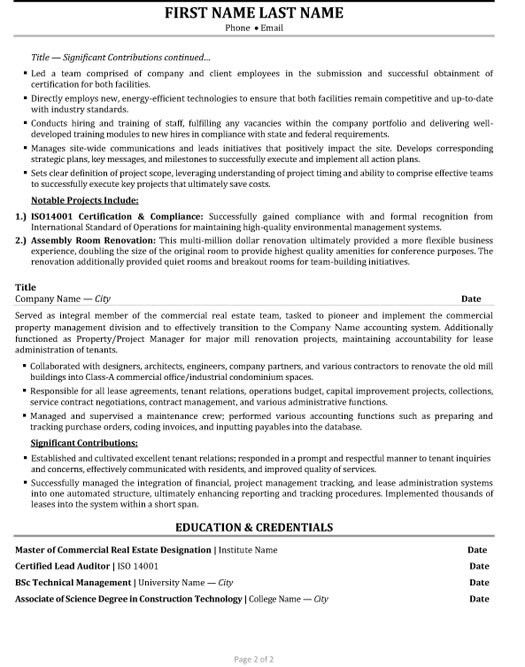 project manager advertising resume