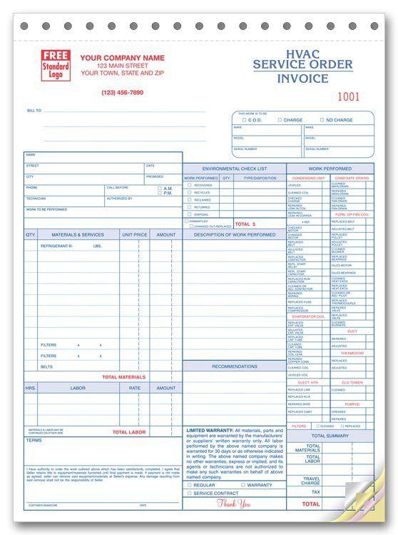 Hvac Invoice Templates. Internet Hosting Free Blank Invoice ...