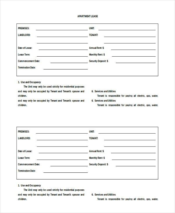 Apartment Rental Agreement – 8+ Free Word, PDF Documents Download ...