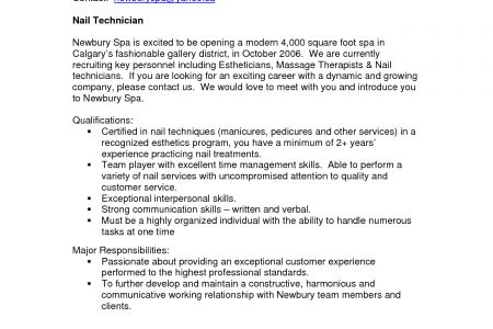 resume sample nail technician caregiver resume sample career enter ...