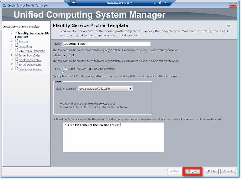 Cisco UCS - Creating Service Profile Templates