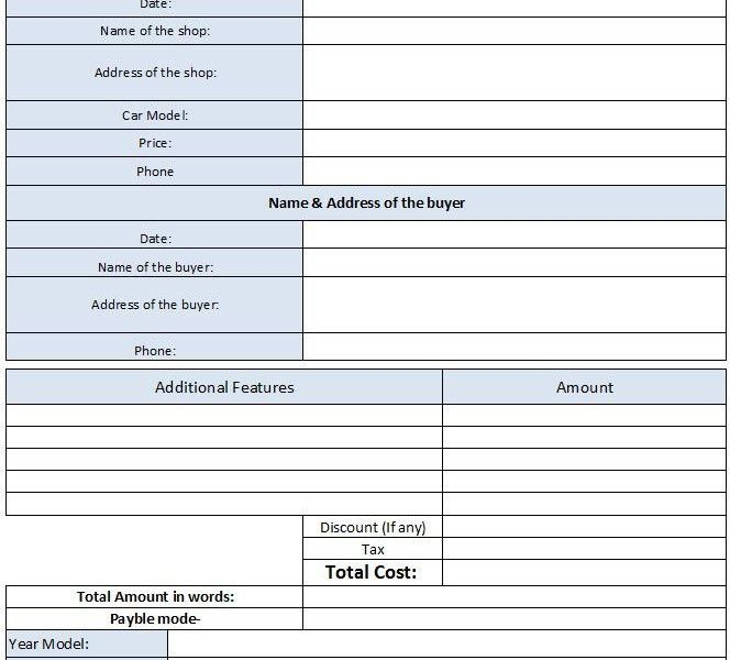 Download Vehicle Sales Invoice Template | rabitah.net