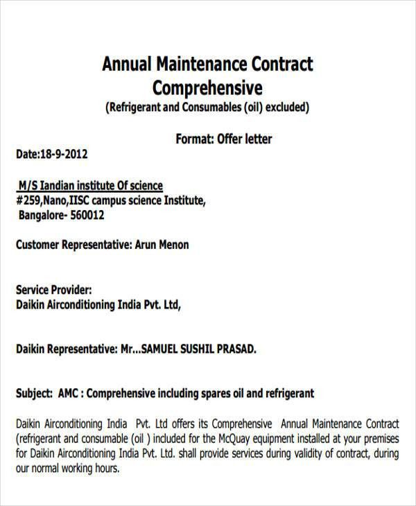 Contract Offer Letter Templates - 9+ Free Word, PDF Format ...