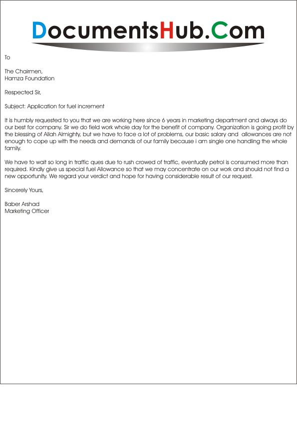 Sample Request Letter For Additional Salary Increase - Cover ...