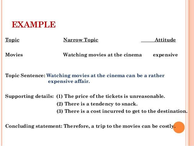 thesis sentence on movies