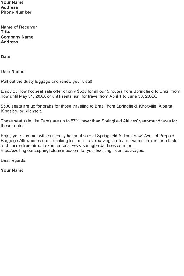 Sales Letter Template - Download FREE Business Letter Templates ...