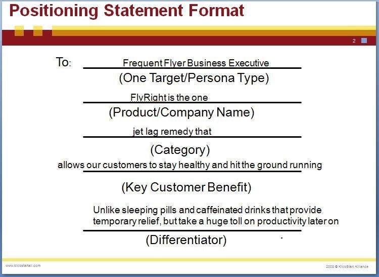 Positioning Statement | Marketing Campaign Development Blog