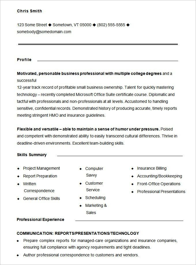 Examples Of Functional Resumes. Functional Resume Sample For ...