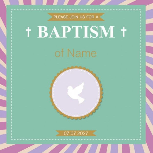 Create Baptism Invitations Online Free - dhavalthakur.Com