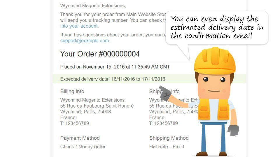 Magento 2 - Estimated Delivery Date - Extension for Magento