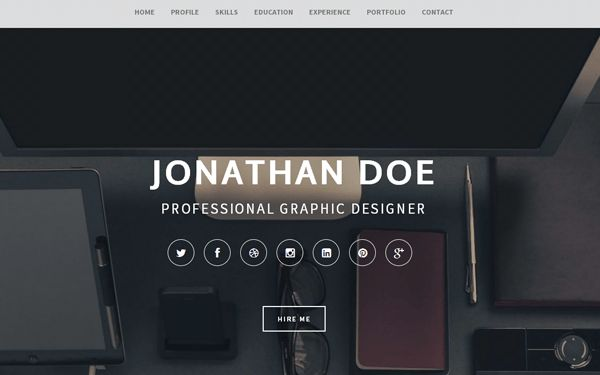 Articulate: Resume Portfolio | Bootstrap Portfolio and Resume ...