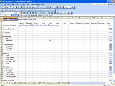 Sales Promotion Budget   Sales Promotion Template