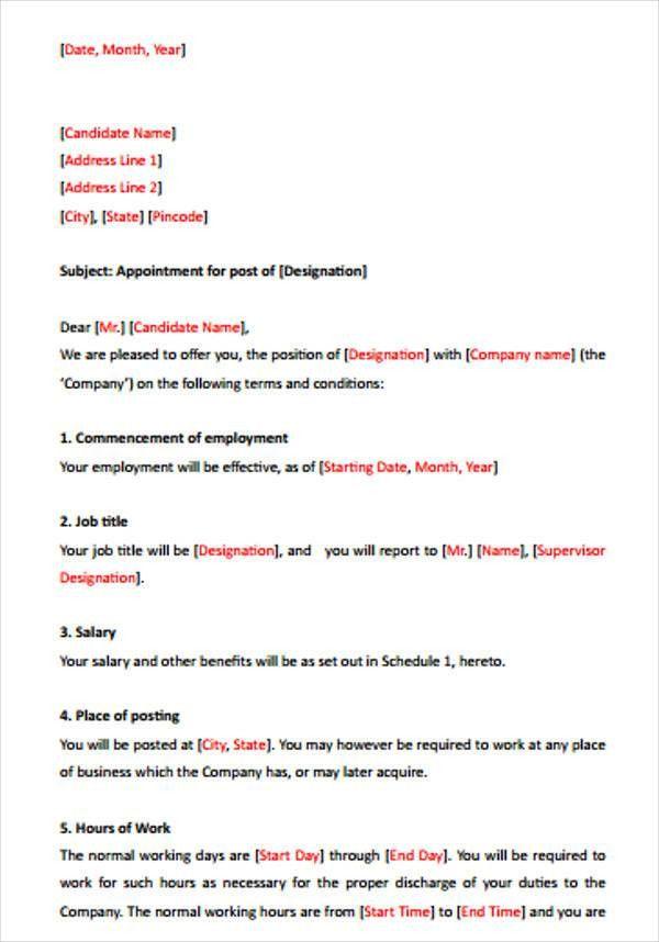 38+ Sample Offer Letter Templates   Free & Premium Templates