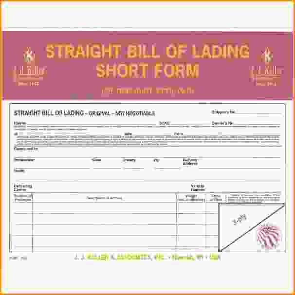 10+ straight bill of lading short form | Loan Application Form