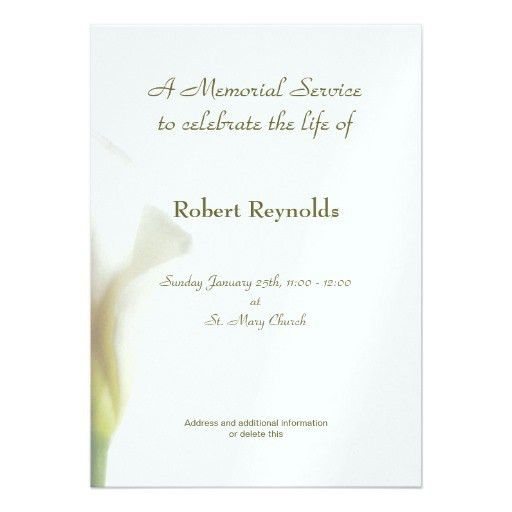 Personalized Obituary Invitations | CustomInvitations4U.com