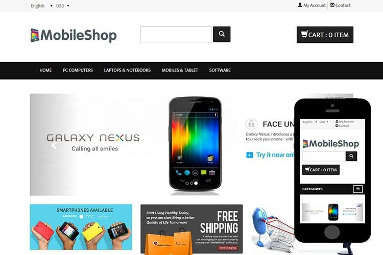 MobileShop - Free Bootstrap Themes - 365BOOTSTRAP